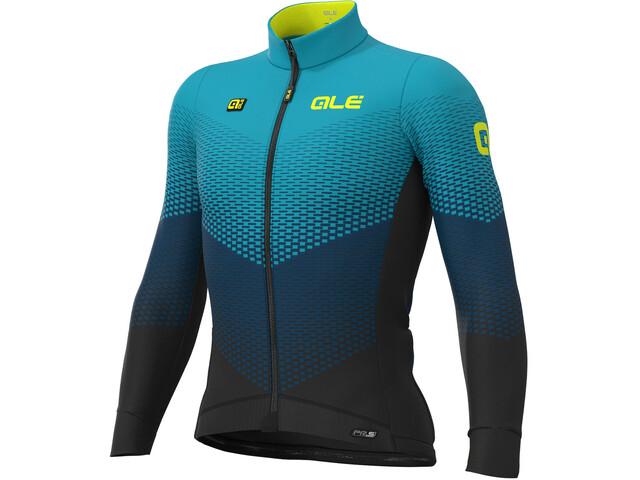 Alé Cycling PR-S Delta Micro Maillot À Manches Longues Homme, black/petrol/turquoise